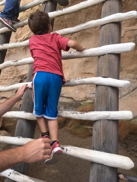 Jack heading up the ladder