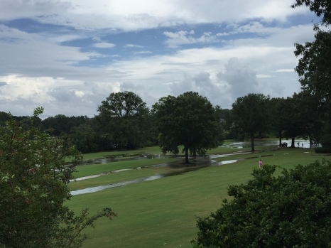 Flooded fairways